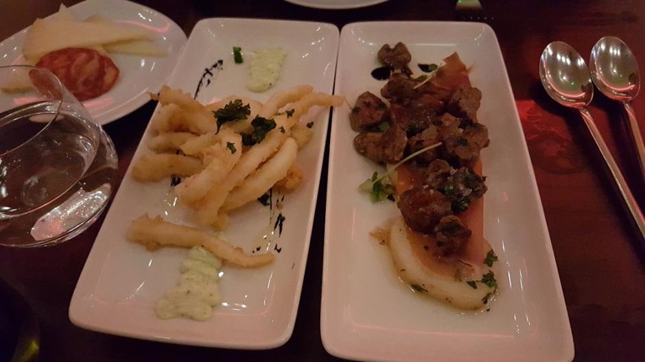 Calimari and beef