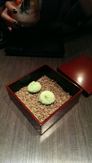 Incredible chocolates with edible chocolate rocks