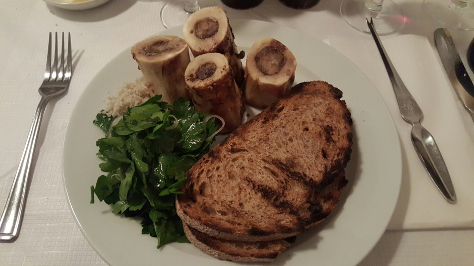 Marrow with toast