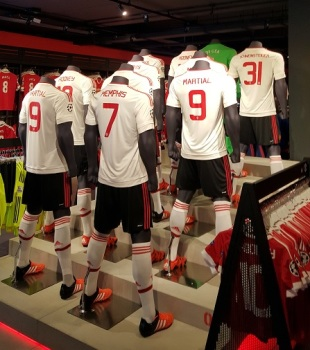 The squad kit display