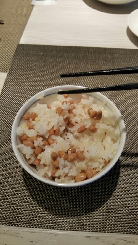 Japanese rice with Nattō
