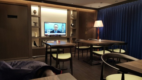 Reading room (TV was silent)