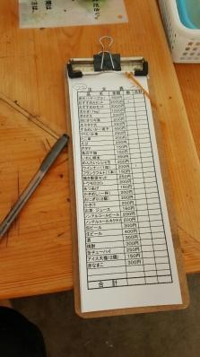 Order list