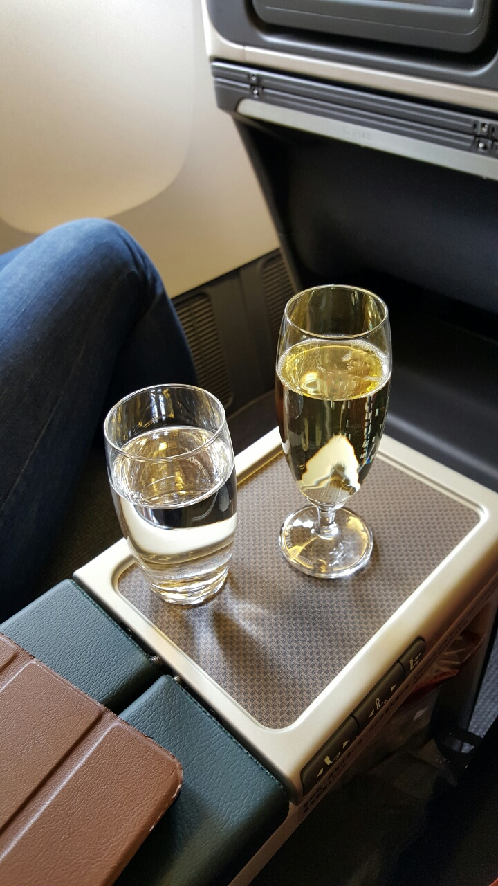 Pre-take off drinks