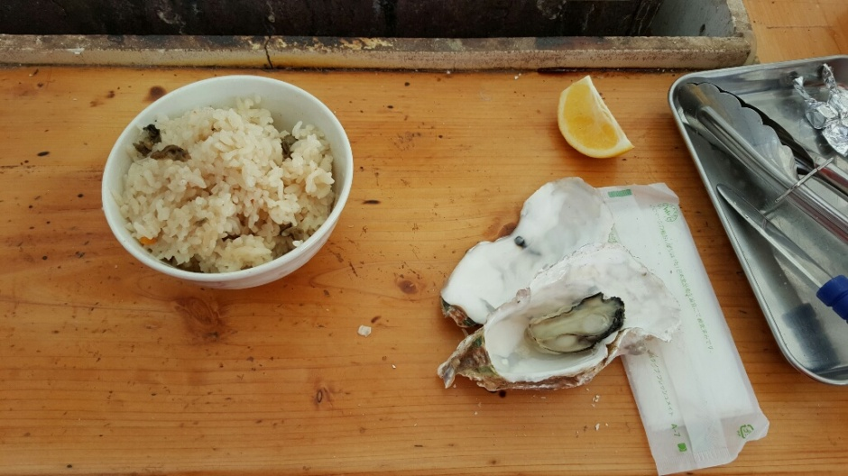 Rice and oysters