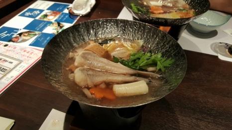 After - Anglerfish with Anglerfish liver and mushroom soup