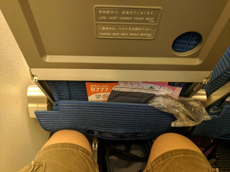 Tightest leg room I've had in a while